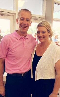Pastor Rod wore pink for me last Sunday to show his support.